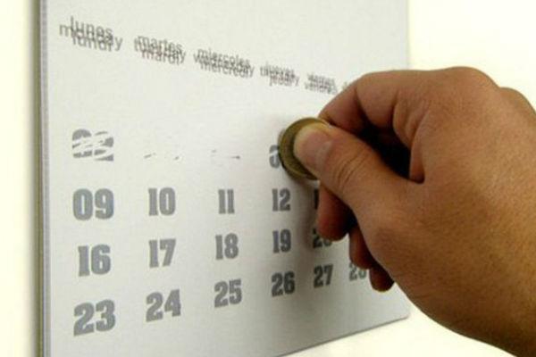Дизайн на печатни материали - календар с изтриване на дати