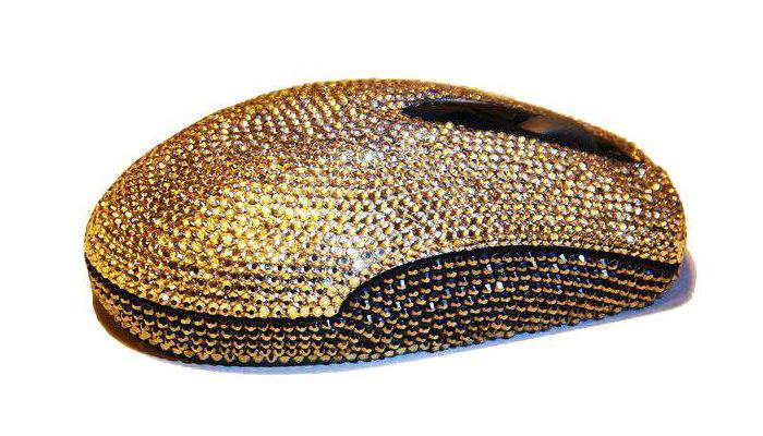 Супер луксозна компютърна мишка с диаманти