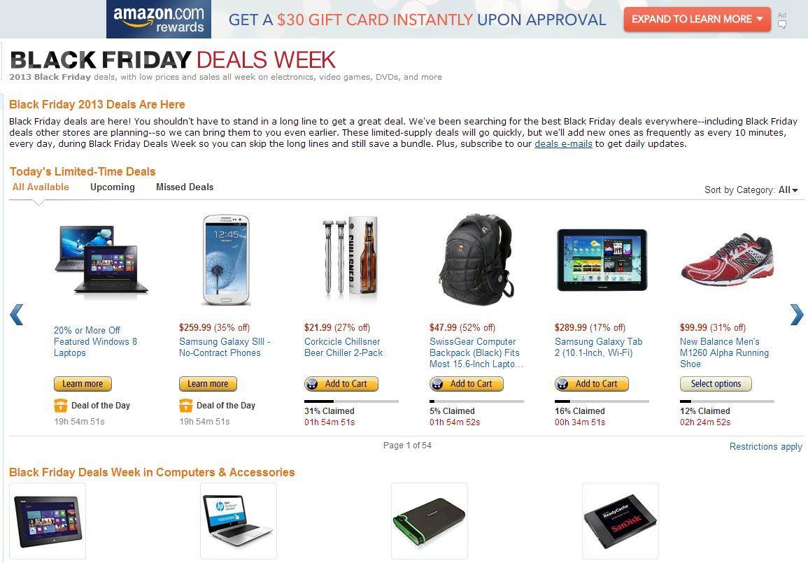 Какво се случва в Amazon в деня на черния петък