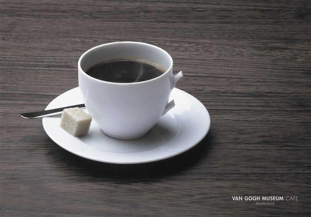 Реклама на кафене в Амстердам със звучното име на художника Ван Гог.