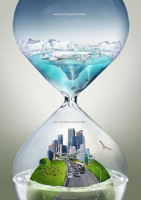 Реклама, отразяваща глобалното затопляне.