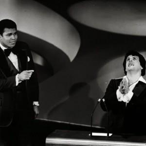 """Мохамед Али и Силвестър Сталоун на наградите """" Оскар: 1977г."""