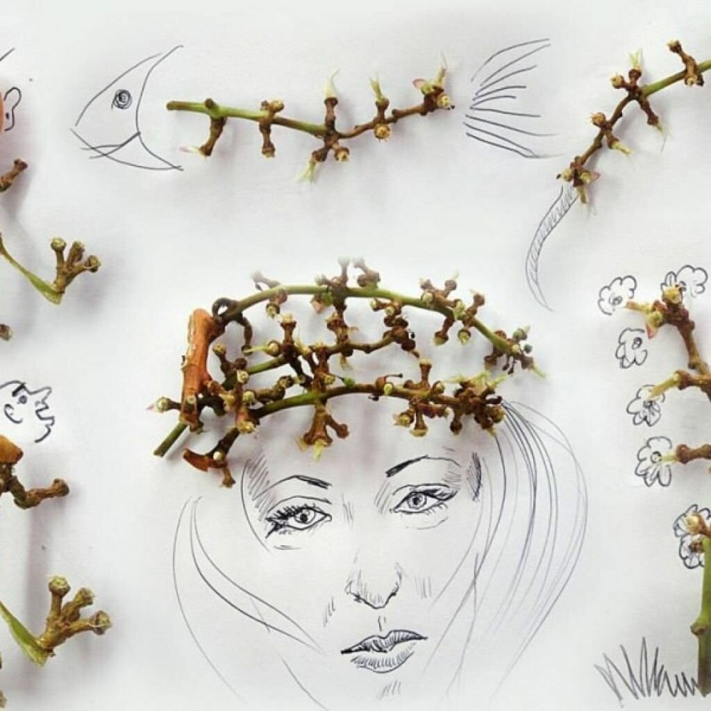 Виктор Нунес - креативни илюстрации с грозде