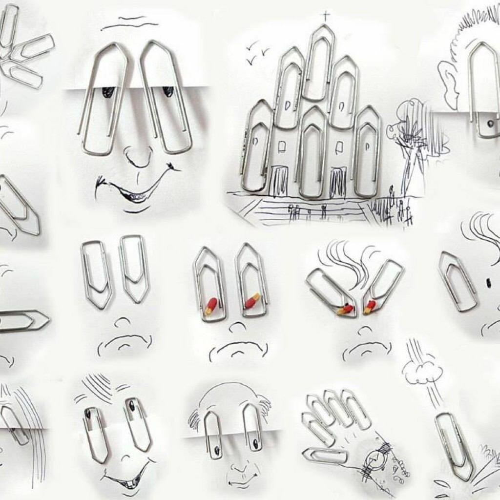 Виктор Нунес - креативни илюстрации с кламер - Блог De-sign.bg