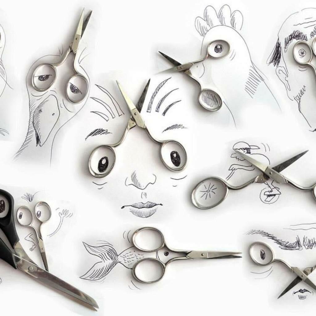 Виктор Нунес - креативни илюстрации с ножици - Блог De-sign.bg
