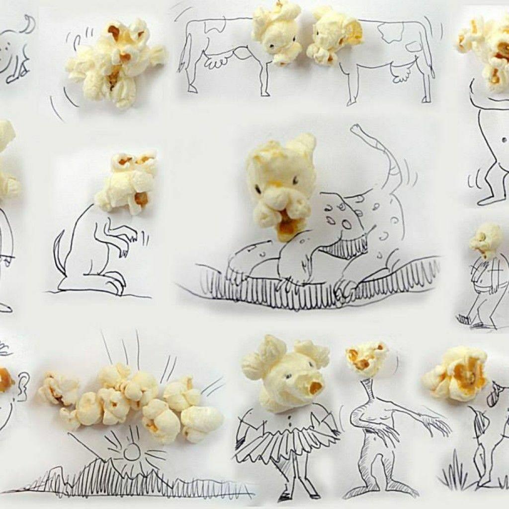 Виктор Нунес - креативни илюстрации с пуканки - Блог De-sign.bg