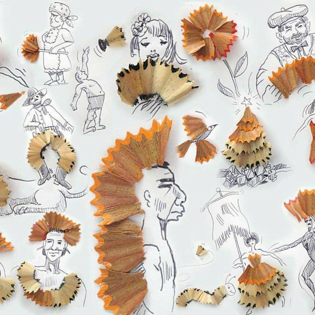 Красиви и креативни илюстрации от стърготини - Виктор Нунес