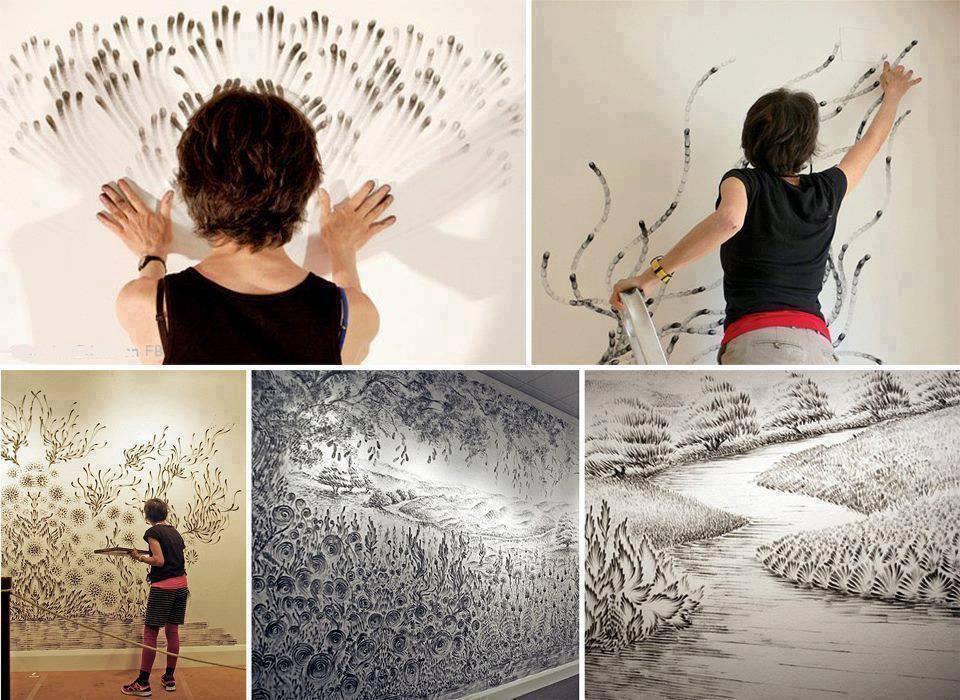 Чудновати картини с пръсти от Джудит Браун