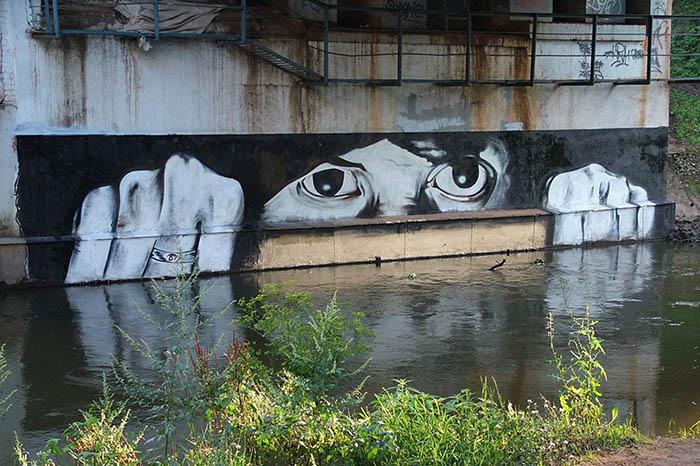 Мистерията около руския Банкси или уличното изкуство на Pahsa P183