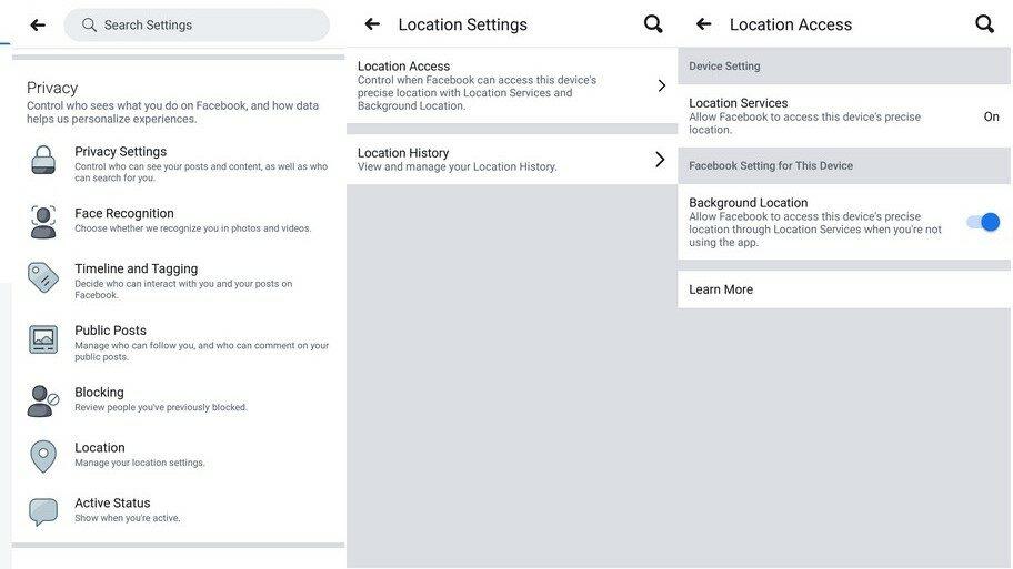 Ограничаване на достъп до локация в background режим - Facebook